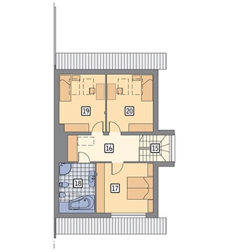 Rzut poddasza POW. 69,0 m²