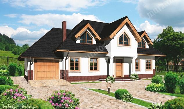Projekt domu:  Murator C80   – Mały dworek
