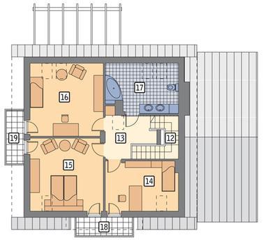 RZUT PODDASZA POW. 67,0 m²